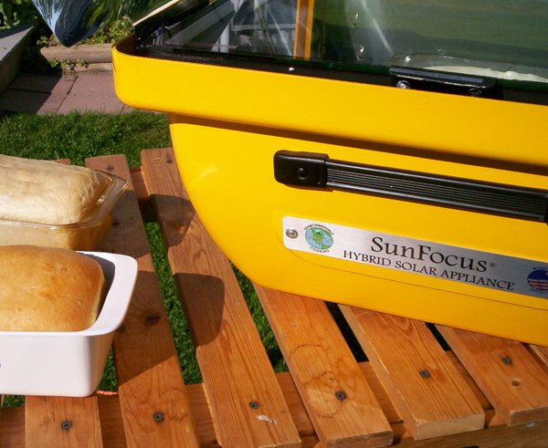 Solar Oven Hybrid with bread